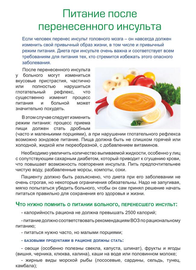 Инсульт Диета Питания. Диета после инсульта: что можно кушать? Фото, видео обзор подбора и приготовления продуктов питания